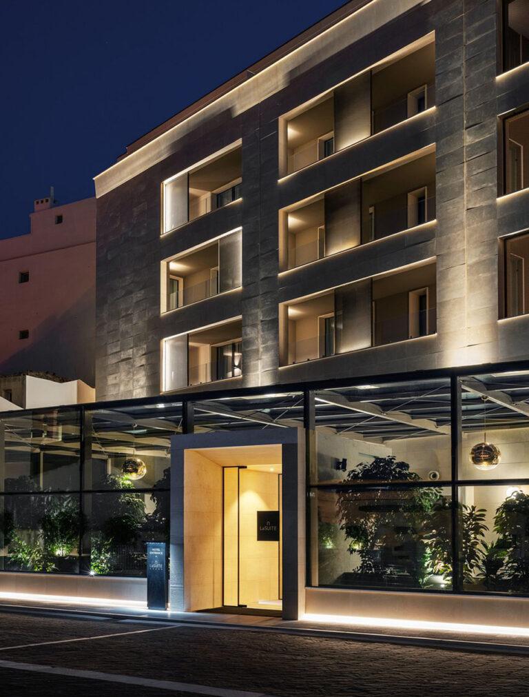 Vista di una camera dell'hotel La Suite Matera